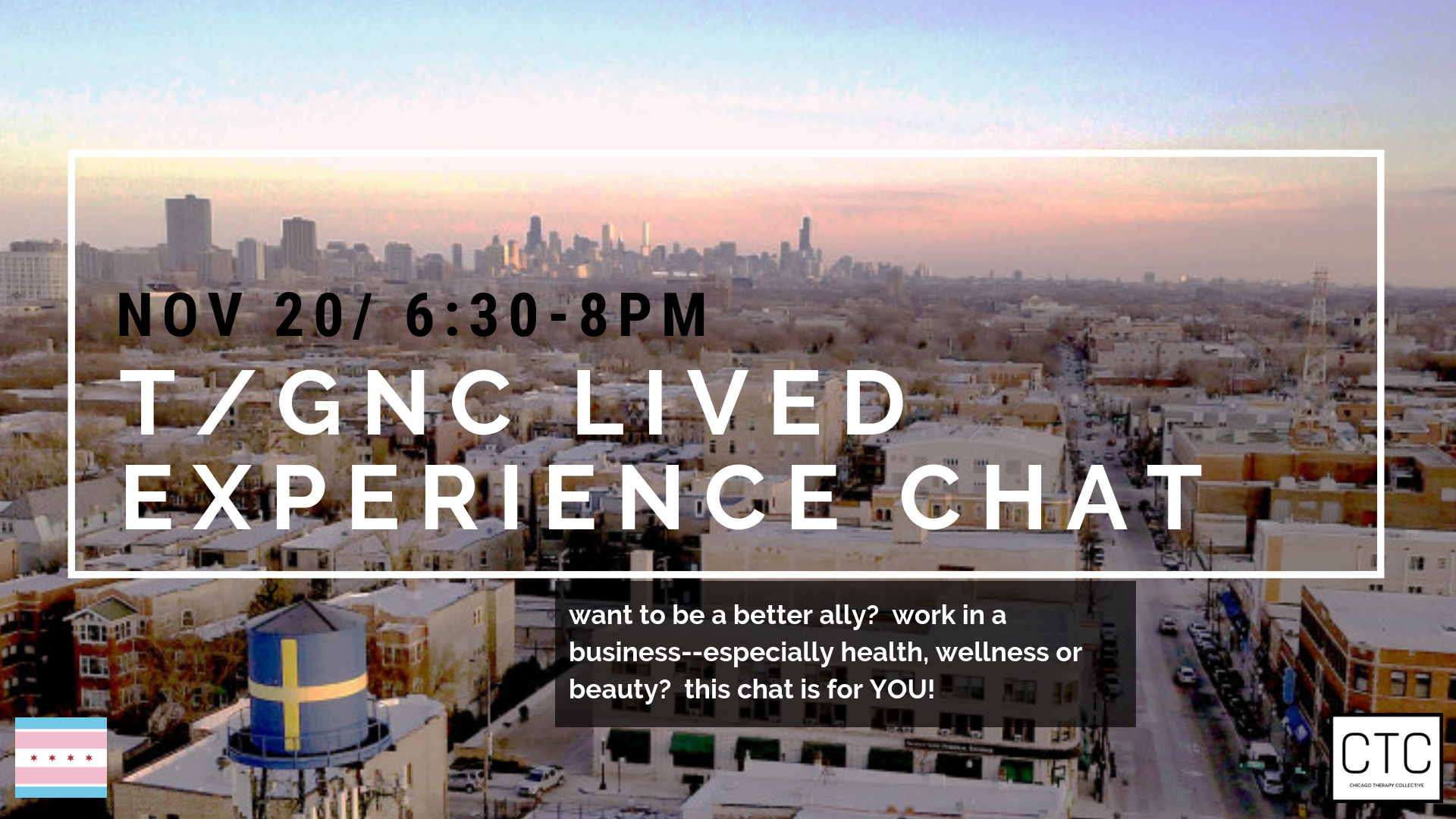 Chicago Therapy Collective T/GNC Lived Experiences Chat Andersonville Businesses